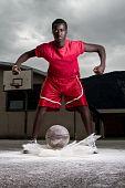 picture of youg  - Youg black streeball player - JPG