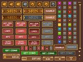 image of coin slot  - Buttons for slots game - JPG