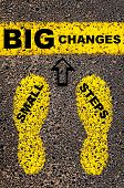picture of big-foot  - Small Steps Big Changes Message - JPG