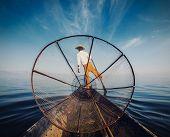 picture of fisherman  - Myanmar travel attraction  - JPG