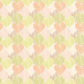 pic of pastel  - Retro pastel leaves on background pattern - JPG