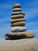 Stacked Beach Stones
