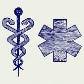 foto of scepter  - Medical sign - JPG