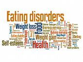 pic of anorexia nervosa  - Eating distorder concepts word cloud illustration - JPG