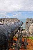 War cannon protecting an island.