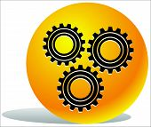 foto of gear wheels  - Various gear wheel rack wheel vector graphics - JPG