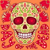 image of day dead skull  - Day of the Dead vector illustration - JPG
