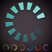 picture of indications  - Round preloader buffer shape circular progress indicator - JPG