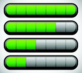 stock photo of oblong  - Horizontal Progress Loading Bars - JPG