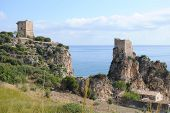 picture of saracen  - view of the coast near Scopello Sicily in the summer - JPG