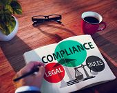 Compliance Legal Rule Compliancy Conformity Concept poster