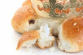 foto of epiphany  - The traditional Swiss bread for Epiphany Day (with a small king figure hidden in the bread for searching fun)