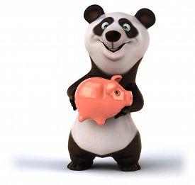 picture of panda  - Fun panda - JPG