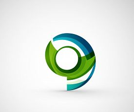stock photo of logo  - Abstract geometric company logo ring - JPG