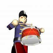 Christmas Toy Soldier - Blue poster