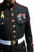 Military man in uniform - salutes those who serve
