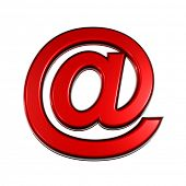 Red colored AT e-mail symbol