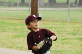 Little Boy Baseball Pitcher