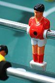 Table soccer closeup