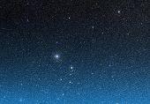 Beautiful night sky full of stars