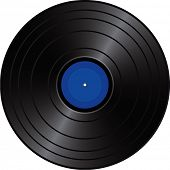 Vector illustration of old vinyl record