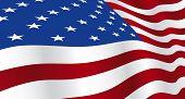 Wide screen wallpaper of USA flag