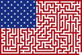 Abstract Vector illustration of american maze flag