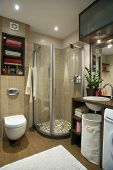 small bathroom in the flat