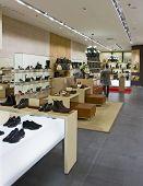 interior of modern shoe shop