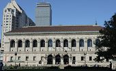 image of prudential center  - boston public library on copley square - JPG