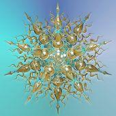stock photo of dodecahedron  - three dimensional mandala - JPG