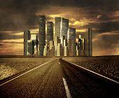 Verschmutzung, globale Erwärmung und die Straße zu Stadtbild