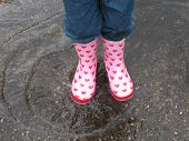 stock photo of rainy day  - Little girl - JPG