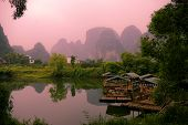 pic of grotesque  - Sunset landscpae of yangshuo - JPG