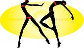 vector image of two dancing people
