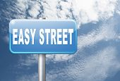 easy street, keep it simple no risk and safe solution, 3D, illustration poster