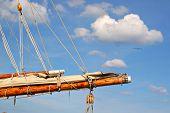 Sail Boat Mast Closeup