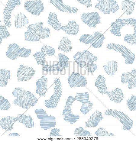 Blue Grunge Leopard Skin Seamless