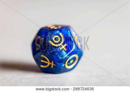 Astrology Dice With Symbol Of