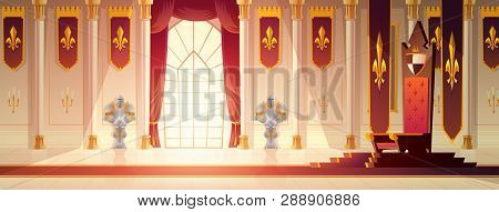 Medieval Castle Spacious Throne Hall