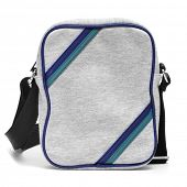 pic of sling bag  - a gray sling bag on a white background - JPG
