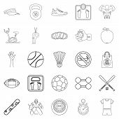 Vitality Icons Set. Outline Set Of 25 Vitality Icons For Web Isolated On White Background poster