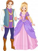 stock photo of prince charming  - Illustration of charming prince and beautiful princess - JPG