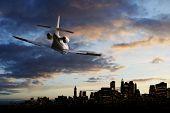 Jetplane on the sky