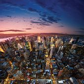 foto of new york night  - Amazing view to new york manhattan  - JPG