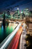 picture of new york night  - Amazing New York cityscape  - JPG