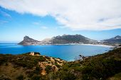 overall view of hout bay from chapman's peak, south africa