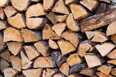 Pile Of Firewood.prepared To Fireplace For The Winter And Use For Cooking,firewood Background,stacks poster