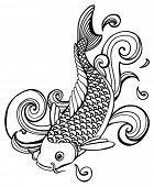 picture of koi fish  - koi fish  - JPG