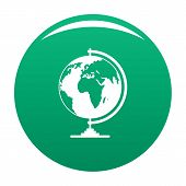 Geography Icon. Simple Illustration Of Geography Icon For Any Design Green poster